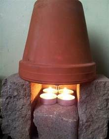 cheap heating how to heat a room with only tea lights and
