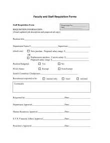 personnel requisition form template best photos of new hire requisition form sle employee