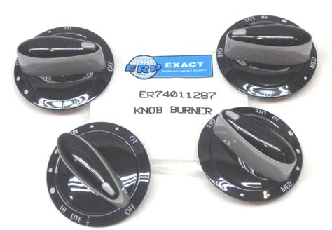 Maytag Knob by 74011287 4 Pack For Maytag Gas Range Burner Knob Black