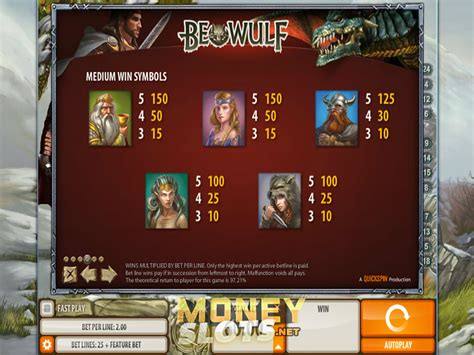 beowulf themes and symbols beowulf slot review playtech play beowulf slot game