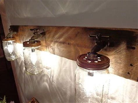 Primitive Bathroom Sconces Primitive Jar Rustic Bathroom Vanity Sconce Light