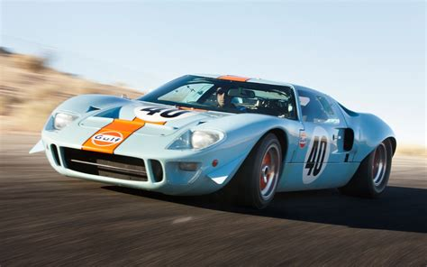 gulf car ford gt40 quot le mans quot race car sets auction record at 11
