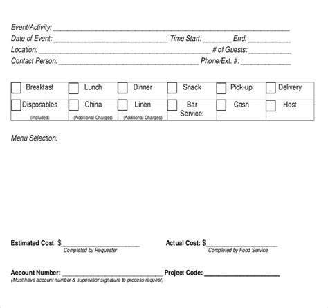 blank order templates  sample  format