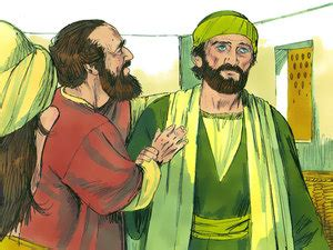 Blind Barnabas In The Bible Free Bible Images Free Bible Illustrations At Free Bible