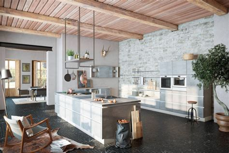 Cuisine Ilot Central Ikea 782 by Kamień Drewno Metal I Beton Kuchnia W Stylu Loft