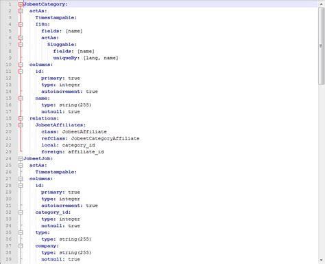 format yaml doctrine orm designer