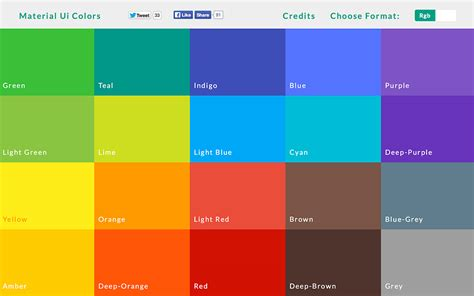material design color schemes material ui colors color palette for material design