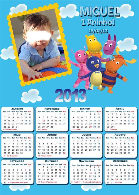 Calendario Personalizado Calend 225 Personalizado Backyardigans Ateli 234 Da Luluka