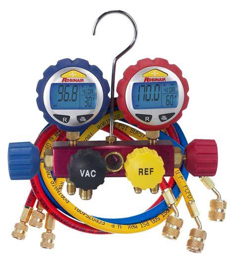 Manifold Robinair 43166 robinair 4 way manifold with digital gauges 60 quot seal enviroguard hoses