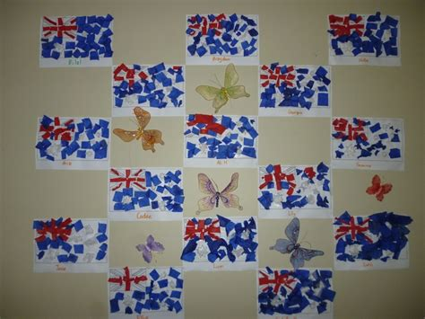 australian craft for aussie flag australia day craft flags and
