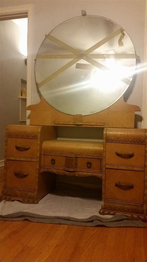 waterfall vanity dresser  antique furniture