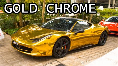 chrome gold ferrari gold ferrari car wallpaper hd