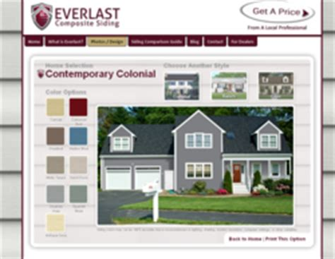 home color design tool everlast composite siding design tool helps homeowners