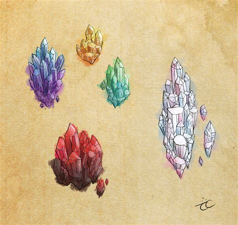 watercolor tattoo wroc aw watercolor crystals by momopaw on deviantart