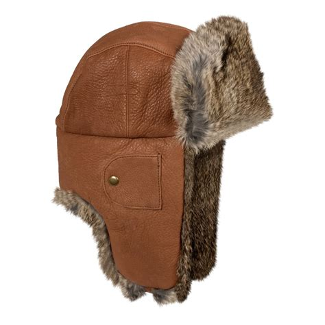 mad bomber 174 leather aviator hat rabbit fur for and