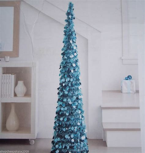 5 ft collapsible tinsel artificial christmas tree