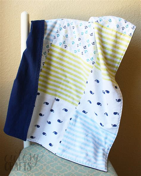 Sew Easy Baby Quilt by Easy Baby Quilt From Receiving Blankets Cutesy Crafts