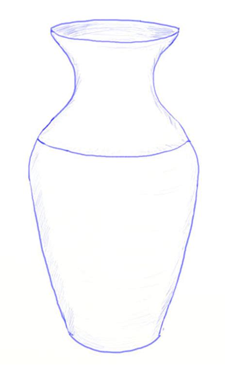 Sketch Of A Vase by How To Draw A Vase Yedraw