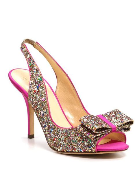 Charm Heels kate spade pumps charm glitter in multicolor lyst