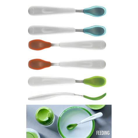 Feeding Spoon 2 oxo tot feeding spoon set 2 pcs green babyonline