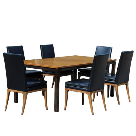 Mahogany Dining Table And 6 Chairs Mid Century Modern Harvey Probber Dining Set Mahogany Walnut Table And Six Chairs For Sale At