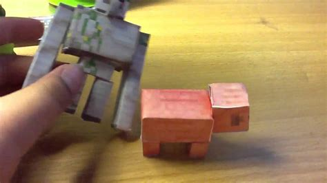 Minecraft Papercraft Review - minecraft papercraft review on pig and chest