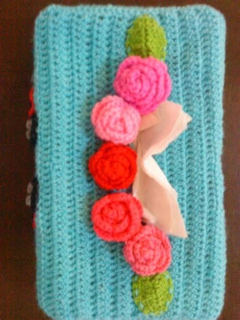 pattern kait kotak tisu kait kotak tisu crochet tissue box cover pinky pinkle