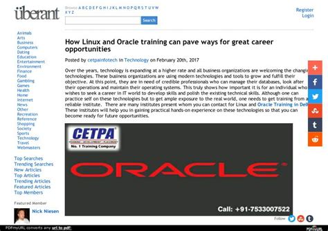 linux tutorial ppt ppt how linux and oracle training can pave ways for