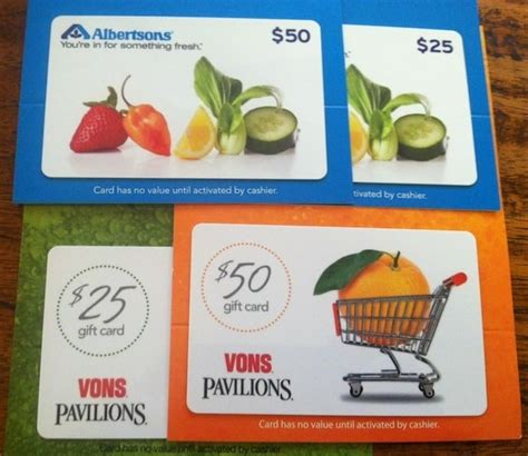 Gift Cards Vons - vons and albertsons gift cards at staples