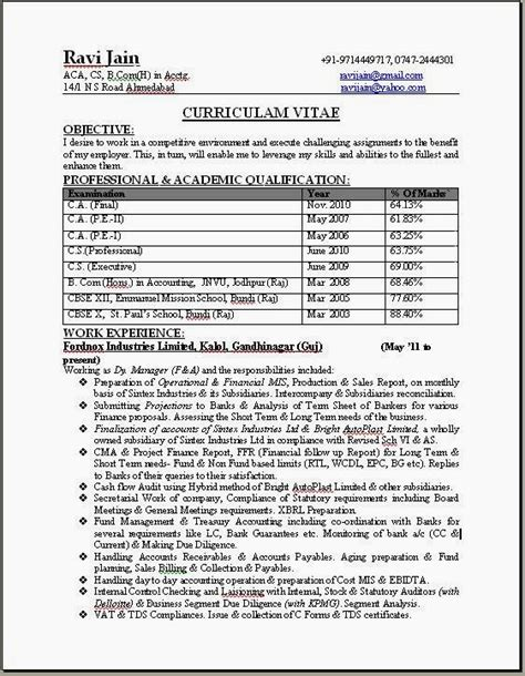 resume format 2014 in india resume templates