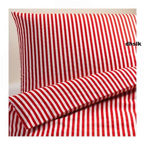 ikea red and white bedding ikea margareta duvet cover pillowcases set white stripes