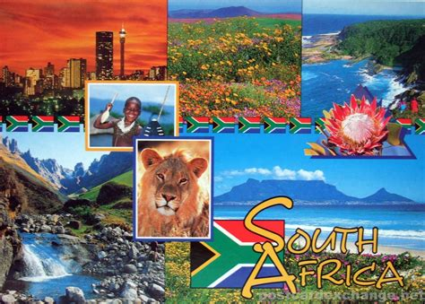 How To Find In South Africa South Africa The Land Of Splendour Postcard Exchange Postcard Collection