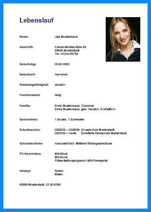 Lebenslauf Vorlage Pdf Ausbildung 6 lebenslauf muster ausbildung business template