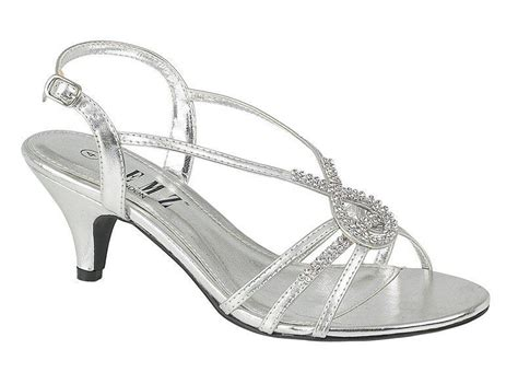 silver sandals for wedding low heel silver diamante wedding prom evening low heel sandals