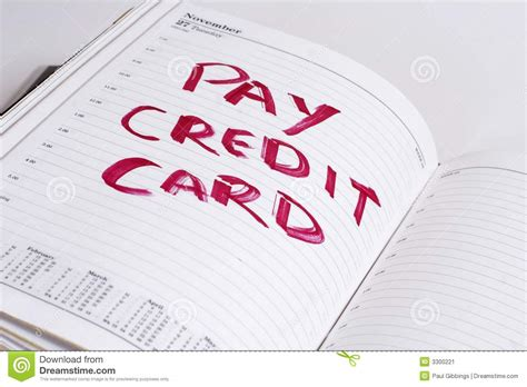 Credit Card Bill Exle pay credit card bill stock image image of bills diary