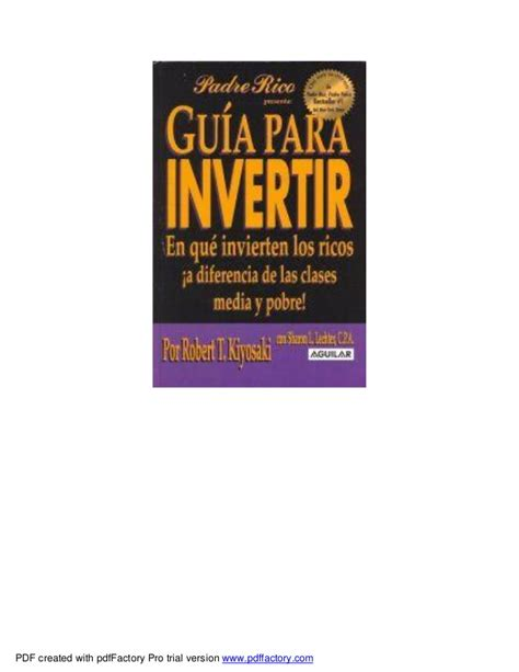 libro guaa para invertir guia para invertir