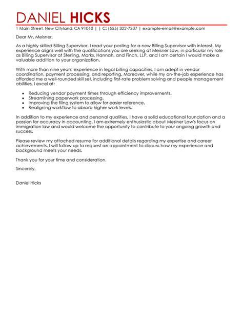 Best Legal Billing Clerk Cover Letter Examples Livecareer