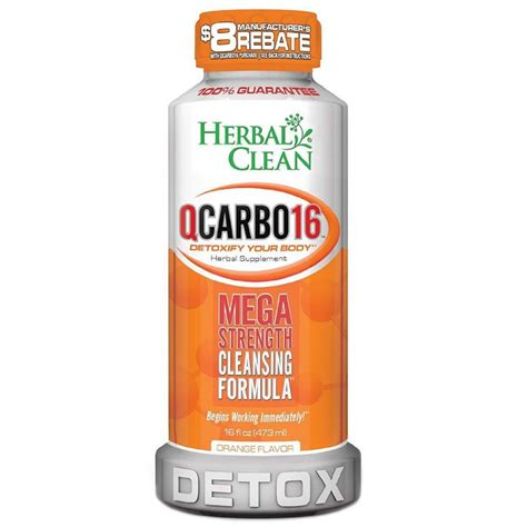 Qcarbo Detox For Test by Buy Herbal Clean Qcarbo Detox Drink With Orange Flavor