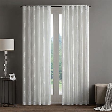 63 inch white curtains buy regency heights aria st sheer 63 inch rod pocket