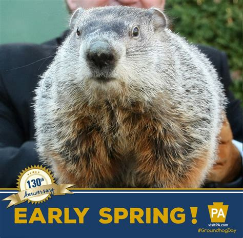 groundhog day tradition early this year says punxsutawney phil