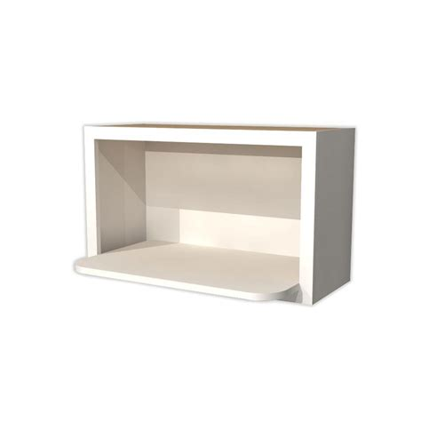 home depot wall shelving home decorators collection 30x18x18 in newport assembled wall microwave shelf in pacific white