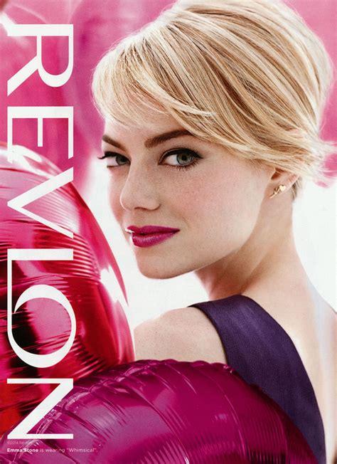 emma stone lipstick emma stone revlon ads 2017