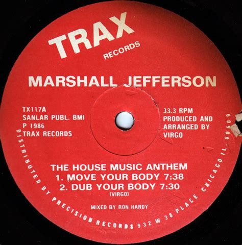 the house music anthem marshall jefferson the house music anthem trax records tx117 at chez emile records