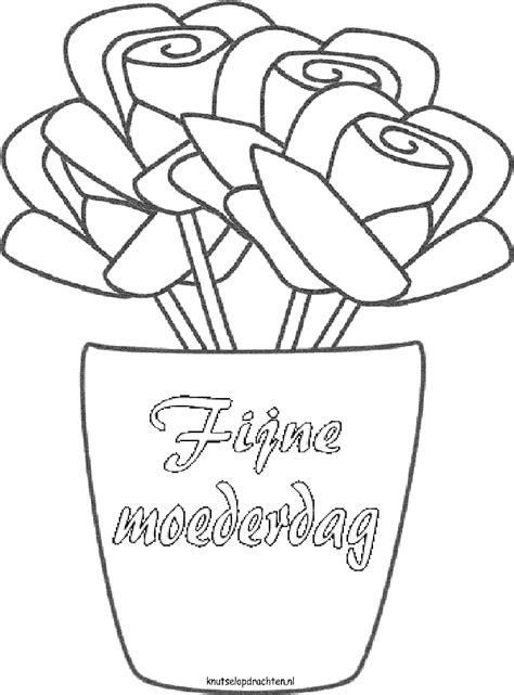 kleurplaat bloem moederdag kleurplaten moederdag