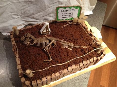 Dig Dig dinosaur dig cake for 4 year dino cakes