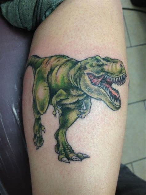 dinosaur tattoo t rex i want one with his closed tho