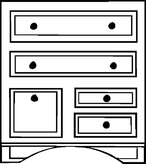 coloring page of a dresser dresser 33 free printable furniture coloring pages