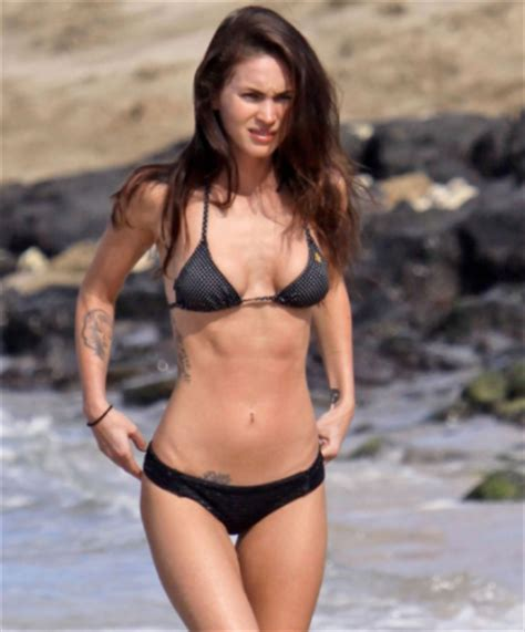 Megan Top G 02 megan fox workout routine and diet working with the transformers and mutant turtles