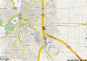 Maps Salem Oregon by Map Of Rodeway Inn Salem Salem