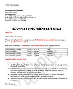 Work Reference Letter For Immigration Employment Reference Letter 8 Free Word Excel Pdf